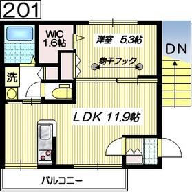 ラ・プリムールN2階Fの間取り画像