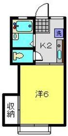 メゾンウスイ2階Fの間取り画像