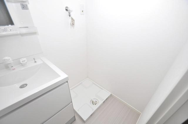 ニューライフ深江南 嬉しい室内洗濯機置場。これで洗濯機も長持ちしますね。