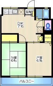 シティハイムコスモスD2階Fの間取り画像