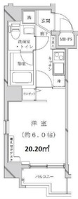 ライジングプレイス桜木町7階Fの間取り画像