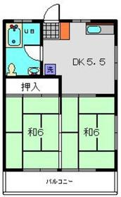 桂ハイツ1階Fの間取り画像