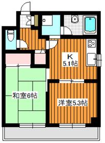 カーサメディオ4階Fの間取り画像
