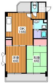 東武練馬駅 徒歩7分5階Fの間取り画像