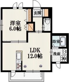 メゾン京1階Fの間取り画像
