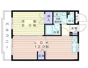 カサグランデ弘明寺2階Fの間取り画像