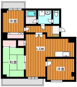 西高島平駅 徒歩8分4階Fの間取り画像