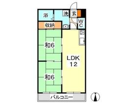 プロスペリティ木村3階Fの間取り画像