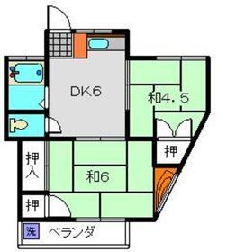 日吉本町駅 徒歩10分1階Fの間取り画像