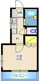 メゾン西上2階Fの間取り画像