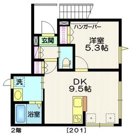 西大井駅 徒歩3分2階Fの間取り画像