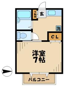 本厚木駅 バス15分「穴口橋」徒歩3分2階Fの間取り画像