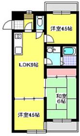 成増駅 バス6分「北山下橋」徒歩8分2階Fの間取り画像