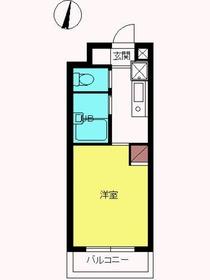 スカイコート新宿落合第62階Fの間取り画像