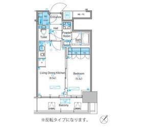 パークアクシス豊洲キャナル5階Fの間取り画像