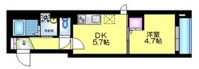 K館4階Fの間取り画像