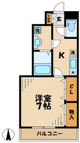 エレガンテ2階Fの間取り画像