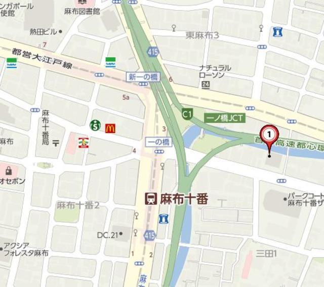 麻布十番駅 徒歩4分案内図