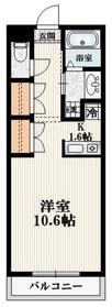メゾン・カルム2階Fの間取り画像