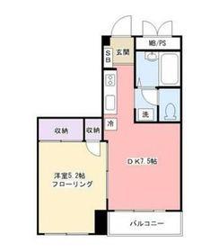マンション吉田3階Fの間取り画像