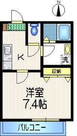 メゾンクレール1階Fの間取り画像