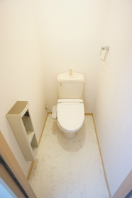 温水洗浄便座付のトイレ!