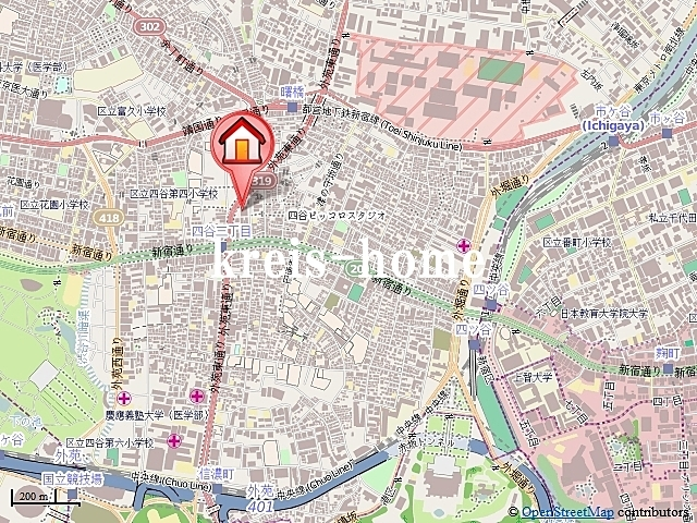 ガラ・ステーション四谷三丁目案内図