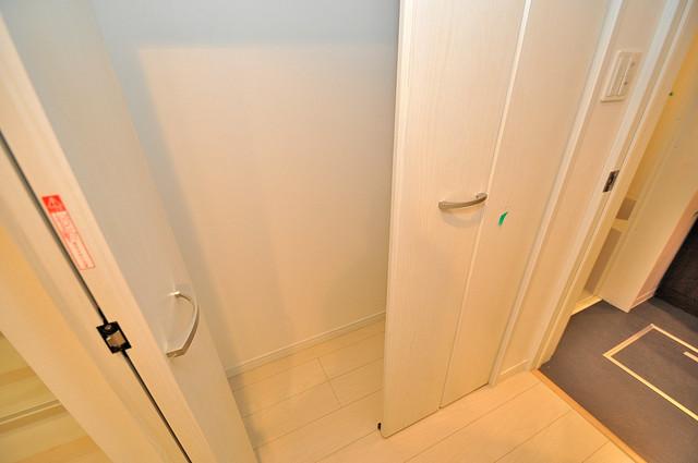ドゥエマーニ楠根 もちろん収納スペースも確保。おかげでお部屋の中がスッキリ。