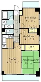 相武台パーク・ホームズ6階Fの間取り画像