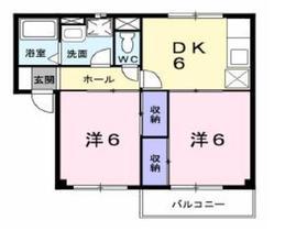 アルエットⅠ2階Fの間取り画像