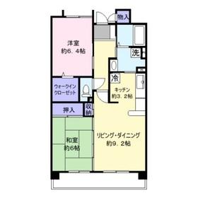 エーコー・カミキI3階Fの間取り画像