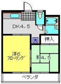 サン・クレール横浜B棟1階Fの間取り画像