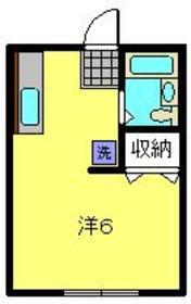 中村ハイツ1階Fの間取り画像
