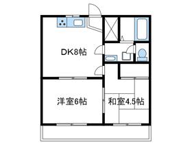 フォーリスト213階Fの間取り画像