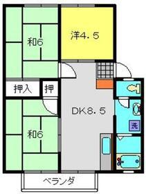 今宿モールサイドⅢ2階Fの間取り画像