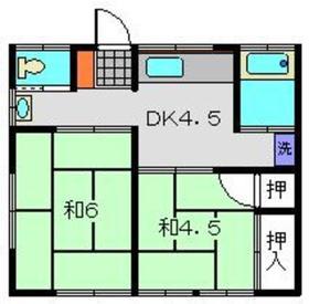テラス横山1階Fの間取り画像