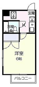 シロタビル4階Fの間取り画像