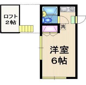 マインドパレス常盤台1階Fの間取り画像