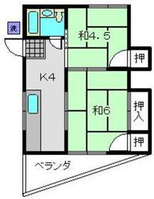 ファミールタガワD2階Fの間取り画像