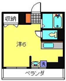 菊名駅 徒歩26分2階Fの間取り画像