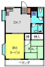キャッスルヒロ2階Fの間取り画像