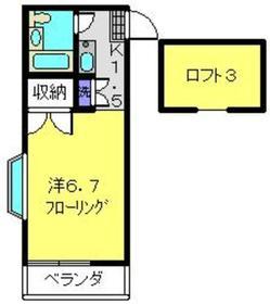 三松ハウス2階Fの間取り画像