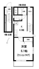 プチメゾン・RIN1-2階Fの間取り画像
