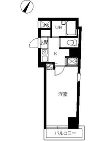 スカイコート目黒壱番館12階Fの間取り画像