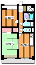 カーサメディオ3階Fの間取り画像