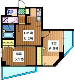 I-Space中目黒4階Fの間取り画像