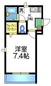 メゾン・ド・ボヌール1階Fの間取り画像