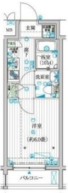 ル・リオン豊洲ワイズレジデンス2階Fの間取り画像