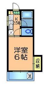 コーポサンコー3階Fの間取り画像