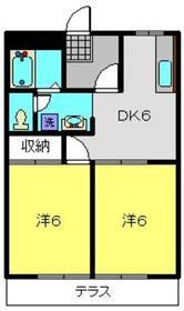 レインボーB1階Fの間取り画像